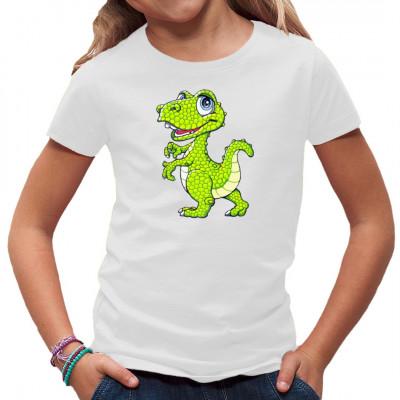 Motiv: Kleiner grüner Dino. Kindermotiv für Dino Fans.