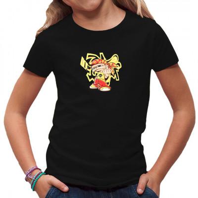 Comic Kind vor Graffiti als Aufdruck für dein Shirt