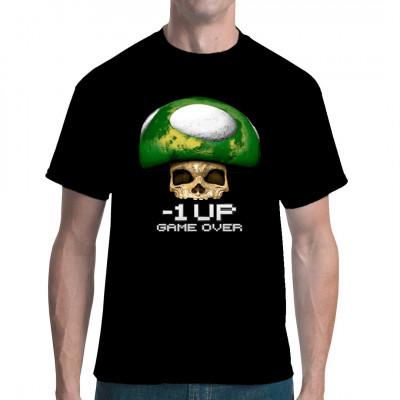 Wer kennt sie nicht, die grünen 1Up - Pilze aus Super Mario? Dieser Pilz hier ist etwas anders. Beim Verzehr dieses Pilzes ist Game Over angesagt.