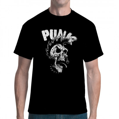 Manche Punks sind einfach nicht tot zu kriegen. Die leben ihre Anarchie aus, selbst wenn sie das vom Jenseits aus machen müssen. Oder ist dieser Punker gar nicht tot, sondern einfach nur vom Punker-Dasein gezeichnet?