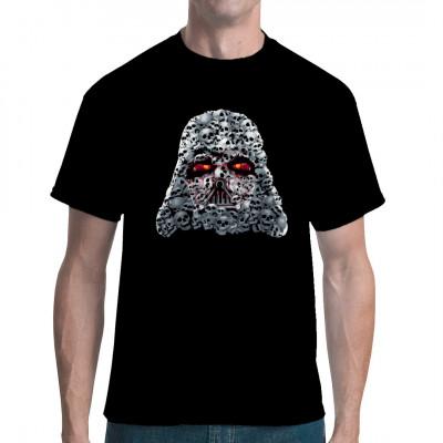 Cooler Darth Vader - artiger Helm aus vielen Totenköpfen für dein Shirt. Hol dir jetzt diesen tollen Druck für dein T-Shirt oder Sweatshirt.  Motivgröße: 30x29cm