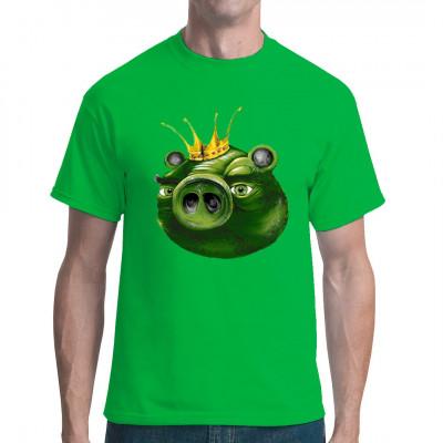 Der beliebte grüne Schweinekönig aus Angry Birds als Siebdruck-Transfer für dein Shirt.