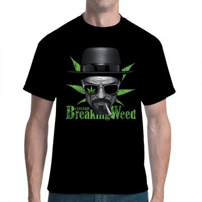 Heisenberg mit Joint - Shirt für Kiffer und Freunde der Fernsehserie.