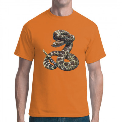 Hol dir diese tolle Klapperschlange als T-Shirt, Sweatshirt oder V-Neck.   Super Motiv für alle Tierfreunde. Vorsicht bissig!