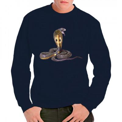 Schlangenmotiv: Kobra T-Shirt - Motiv in intensiven Farben, nicht nur für Reptilien - Fans.