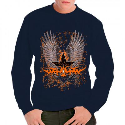 Flügel, Stern und Tribal Übergroßes Motiv für dein T-Shirt, Sweatshirt oder V-Neck