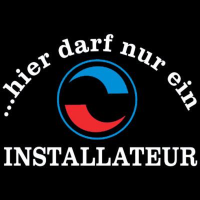 Installateur-Navy Blau-Sprüche Arbeit, Einbauer, Beruf, Sprüche, Arbeit, MOTIVE P - Z, Beruf