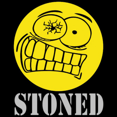 Stoned Smiley, Drogen, FUN Shirt, lustiges Motiv, Comics, Lustig & Fun
