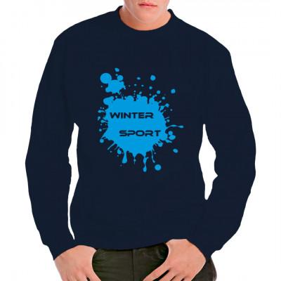 Egal ob in L'Alpe d'Huez, St. Moritz, Sotschi oder einfach nur Altenberg, egal ob Wettkampf oder reiner Zeitvertreib. Wintersport ist immer toll. Hol dir dieses tolle Motiv für dein Sweatshirt.  Motivgröße: ca. 30x30cm Motivfarbe: Hellblau