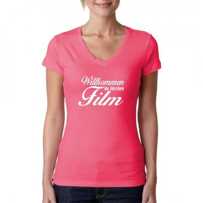 Falscher Film Sprüche Fun T-Shirt als Geschenk bis Größe 3XL
