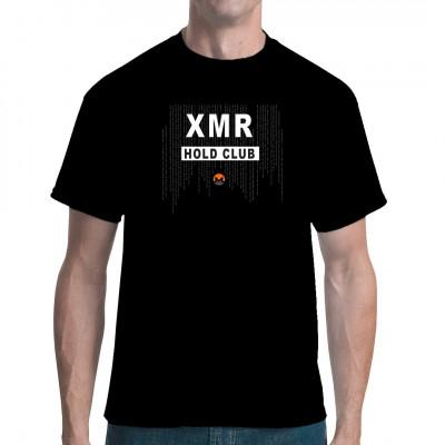 XMR HOLD CLUB Shirt zeige deinen wahren Crypto Favorit auf deinem Shirt.