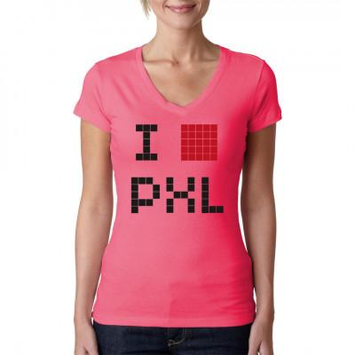I love Pixel, ♥, Pixel Liebhaber Fan MineCraft, Fanhsirt, Shirt , Ich liebe Pixel Eine riesen Fangemeinde steht hinter diesen Pixeln und Blöcken. Viele sind stundenlang beschäftigt sich eine eigene Welt zu erstellen und diese stätig zu erweitern. Mit di