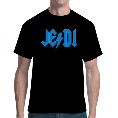 JE/DI, die Hardrock-Band aus den Outer Rim Territorien Egal ob du eher zur Hellen oder Dunklen Seite der Macht tendierst, mit diesem Shirt bist du sowohl beim nächsten Metal-Konzert als auch der SciFi Convention der heimliche Star.