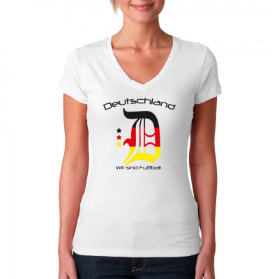 Deutschland - Wir sind Fußball Deutschland ist die Fußballnation schlechthin. Hol dir dieses tolle Shirt und zeige deine Verbundenheit zum Fußball.