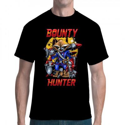 Kopfgeldjäger, taktisches Genie, Scharfschütze, Beschützer der Galaxie... echt überraschend, zu welchen Leistungen ein mutierter Waschbär in der Lage ist. Farbintensives Fun-Shirt für Comic Fans