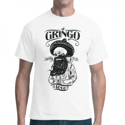 Dieser Gringo ist total loco. Hol dir dieses vollkommen verrückte Skelett als waschfesten Digitaldruck für dein Lieblings-Shirt.
