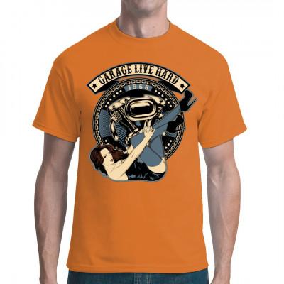 Pin Up Garage T Shirt Selbst Gestalten Drucken Im Shirt De