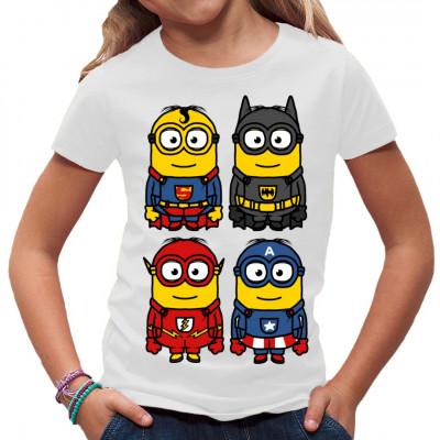 Vier kleine gelbe Superhelden