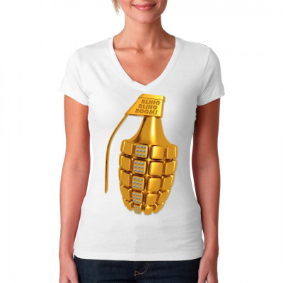 Bling-Bling-Boom - Handgranate Mach auch Du deine Gegner zu echten Fashion - Victims mit diesem coolen Print auf deinem T-Shirt, Sweatshirt oder V-Neck.