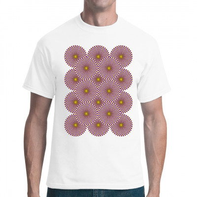 Optische-Täuschung-Wheels Shirt - die Textil Neuheit aus unserer Dresdner Manufaktur - Verwirre deine Freunde und sei das Gesprächsthema und Mittelpunkt der Party. Langes hinschauen bewirkt das dein Shirt zum Leben erweckt wird.