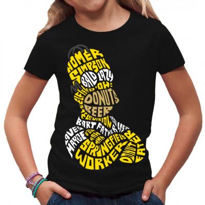 Comic Fun Motiv für dein Shirt mit den verschiedenen Eigenschaften des Homer S.