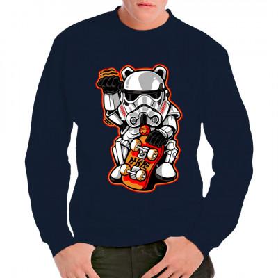 Fun-Shirt für Asia-Fans mit SciFi-Touch Imperialer Sturmtruppler als Maneki - Katze.