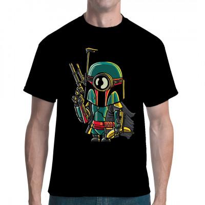 Minion in Boba Fetts Mandalorianer - Rüstung mit Banane Witziges Comic - Motiv für dein Shirt  Mittels Digital-Direktdruck aufgebracht. waschfest