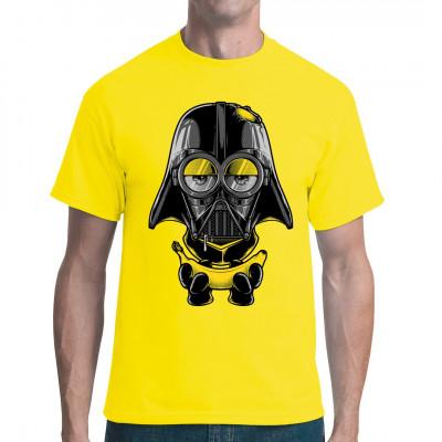 Unterschätze niemals die Dunkle Seite der Banane Klein, gelb und gemein: Darth Minion schlägt wieder zu. Comic Fun Motiv für dein Shirt