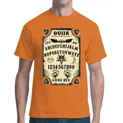 Wenn dir der Sinn nach Okkultismus und paranormaler Aktivität steht, dann bist du bei diesem Shirt genau richtig.  Quija-Board als waschfester Digital-Direktdruck für dein Shirt