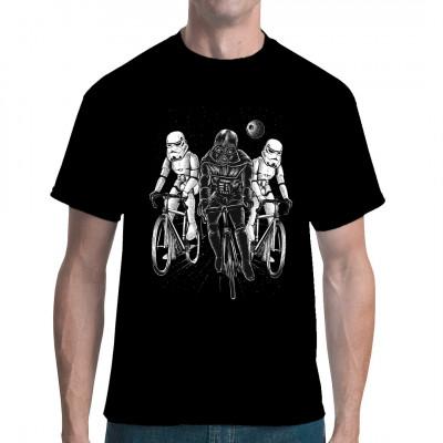 Sturmtruppen auf Fahrrädern Fun Shirt für den sportlichen SciFi Fan, in vielen Größen und Farben erhältlich