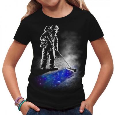 Interstellarer Weltraum-Reinigungsdienst als farbintensiver Print für dein Shirt
