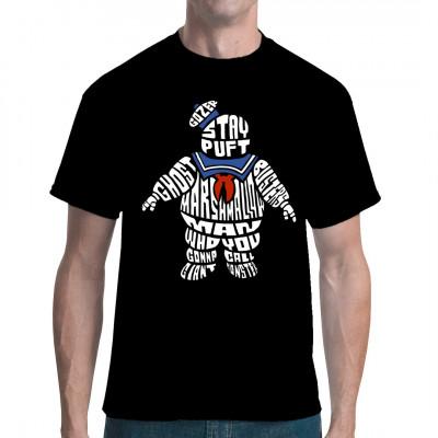Der Stay Puft Marshmallow - Mann als witziger Print für Dein Shirt