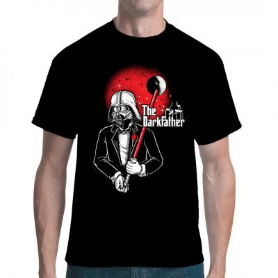 Karikatur Shirt: Neben seiner Rolle als biologischer Vater von Luke Skywalker und Leia Organa ist Darth Vader auch noch der Schutzpatron der Galaxis. Er macht dir ein Angebot, das du nicht abschlagen kannst.