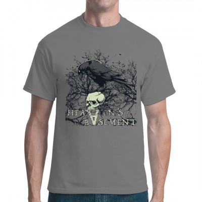 Heaven's Basement  Motivshirt mit Schädel, Rabe und Astmotiv