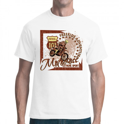 Motocross Extreme Sports  Shirt mit Motocross-Motorrad in verschiedenen Ausführungen und Größen