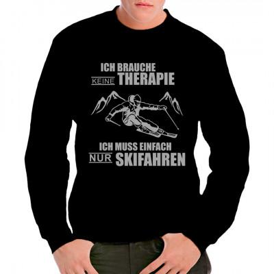 Super Wintersport - Motiv für alle Ski - Fahrer.  Mittels Flexdruck aufgebracht.
