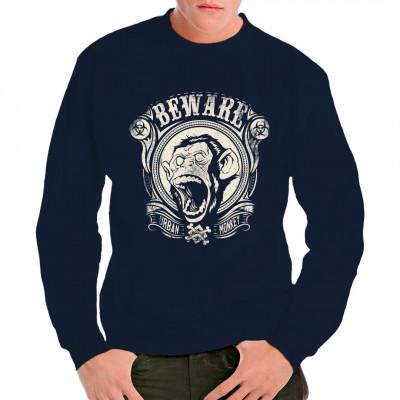 Shirt Motiv: Urban Monkey Mit diesem Urban Style Shirt machst Du Dich garantiert nicht zum Affen.  Mittels Digital-Direktdruck aufgebracht. waschfest