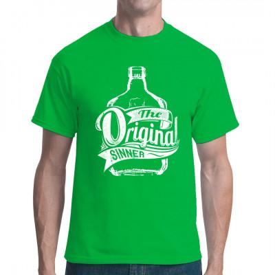 Original Sinner: Tolles Motiv für dein T-Shirt, Sweatshirt oder V-Neck  Mittels Digital-Direktdruck aufgebracht. waschfest
