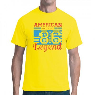 Cooles Sport Shirt für alle American Football Fans  Mittels Digital-Direktdruck aufgebracht. waschfest
