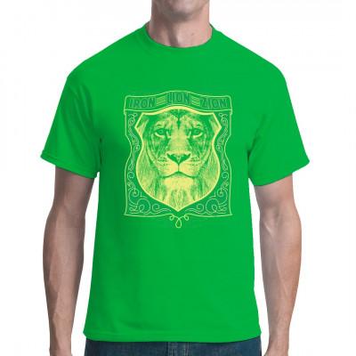 Cooles Shirt Motiv für alle Reggae Fans mit einem Löwenkopf Mittels Digital-Direktdruck aufgebracht. waschfest