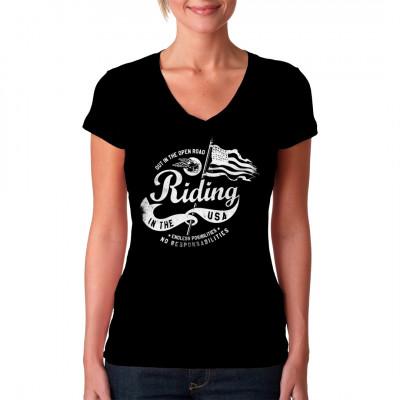 Cooles Biker Motorrad Shirt Motiv für dein T-Shirt, Sweatshirt oder V-Neck.  Mittels Digital-Direktdruck aufgebracht. waschfest