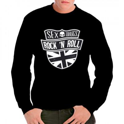T-Shirt bedruckt - Sex and Drugs and Rock 'n' Roll Hymne einer ganzen Generation aus dem Jahr 1977 und geiles Motiv eingefleischter Fans der stillen Töne. Must Have !!! Tolles Shirt Motiv.
