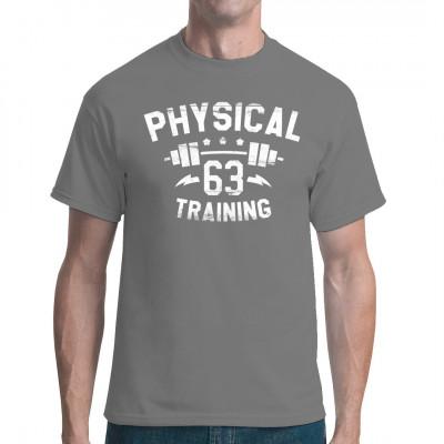 Cooles Shirt-Motiv für alle, die ihren Körper stählen und regelmäßig ein paar Gewichte stemmen gehen.   Mittels Digital-Direktdruck aufgebracht. waschfest