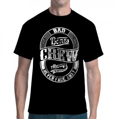 Bad Bones Crew T-Shirt mit hochwertigem Digitaldruck