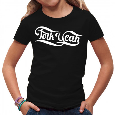 Musik Fun Motiv: Folk yeah  Mittels Digital-Direktdruck aufgebracht. waschfest