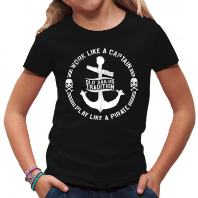 Segel T-Shirt: Anker und Totenköpfe  Fun Shirt für alle Hobby - Kapitäne. In vielen verschiedenen Farben und Größen verfügbar