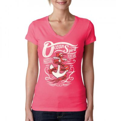 """Shirt Motiv mit Anker und Spruchband: """"The original sailing team"""". Dieses Shirt ist das ideale Geschenk für alle Segler und sonstige Seebären."""