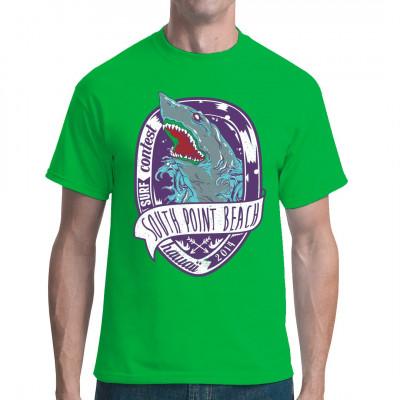 Shirt Motiv mit gruseligem Hai