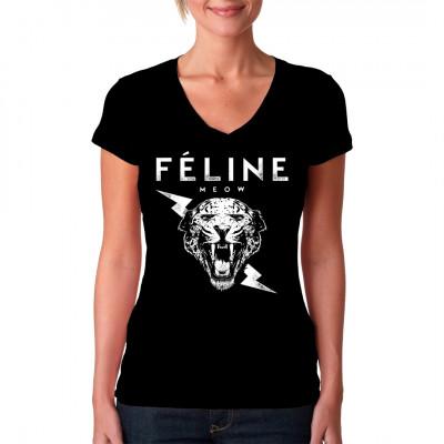 Zeig deine pantherhafte Agilität und wilde Natur mit diesem tollen Shirt Druck. Meow!  Mittels Digital-Direktdruck aufgebracht. waschfest