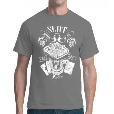 Oldschool Vegas Glücksspiel Shirt